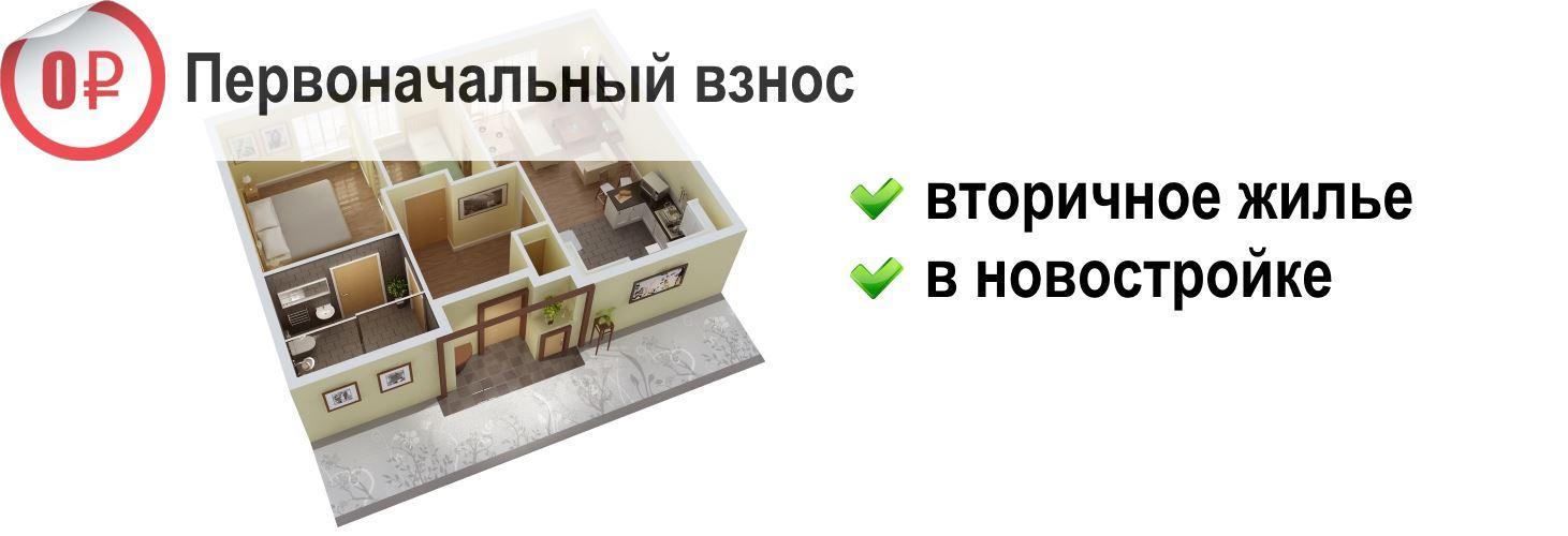 Квартира без первоначального взноса Ипотека без первоначального взноса